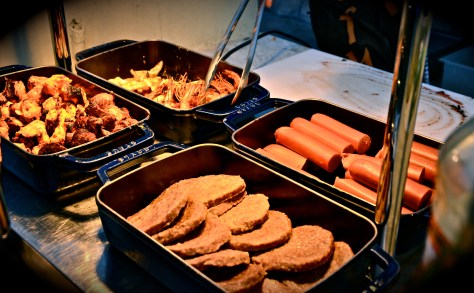 Hotdogs, burgers and other meats at Friday Beach Barbecue
