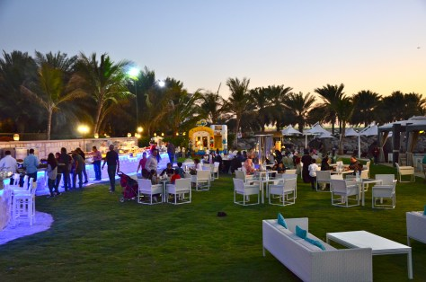 Friday Beach Barbecue buffet arrangement at Traders Hotel, Abu Dhabi