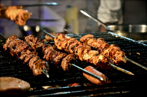 Unlimited grilled meat skewers