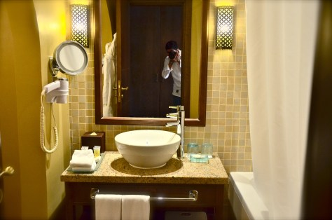 Typical bathroom at Tilal Liwa hotel rooms