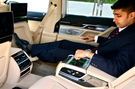 Executive Lounge Seating inside the BMW 750Li 2016