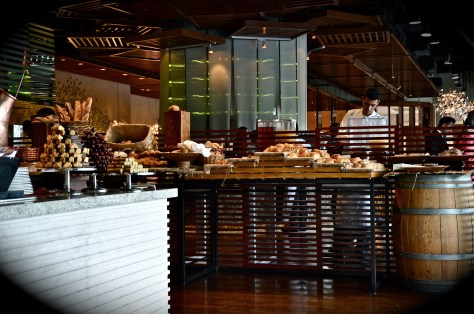 Breakfast setup at Ballaro, Conrad Dubai