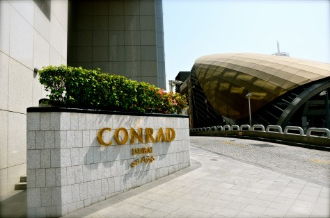 Conrad Dubai located next to WTC metro station