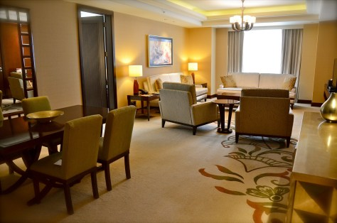 Separate Living area of the Executive Suite