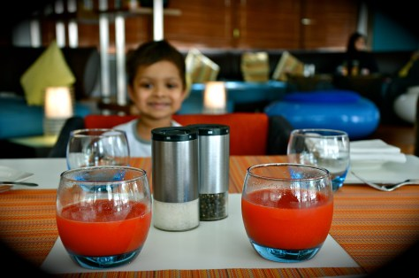 Complimentary juice(awesome antioxidants-carrot, orange, pineapple, beetroot,ginger) of the day for breakfast guests