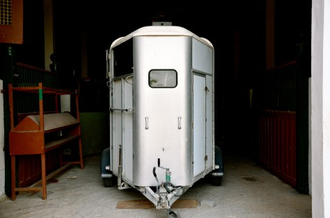 Horse trailer used to transport horses