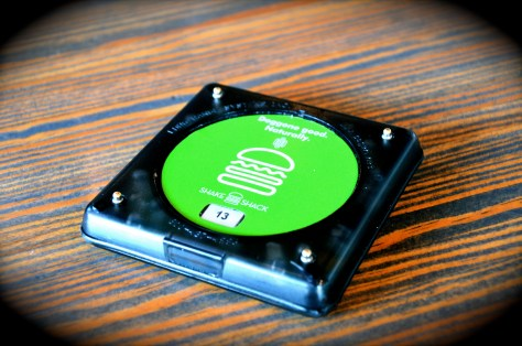 SHAKE SHACK Buzzer given to you while you wait for your order