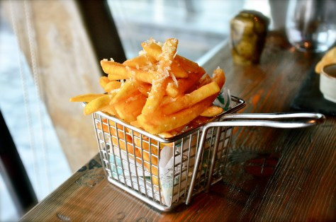 Truffle Fries with Parmesan - french fries tossed with truffle oil & grated parmesan