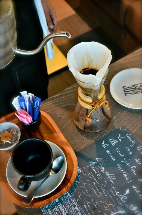 Chemex brewed tea in the making at our table - AED 30