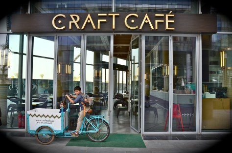 Entrance to Craft Cafe at Dubai Design District(D3)