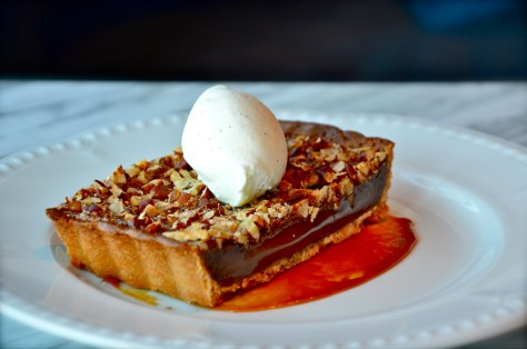 PECAN BUTTER TART with Chantilly cream