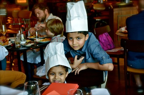 The Junior Chefs having fun at Bread Street Kitchen Family Brunch