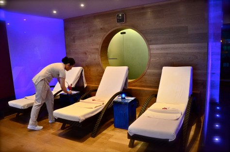 Relaxation room at Wellness club(Bodylines) at Park Rotana, AbuDhabi