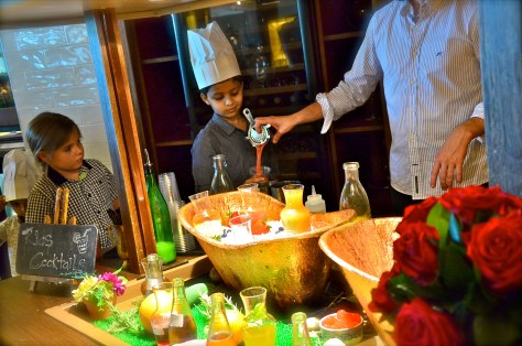 Mocktail classes for the little ones at Bread Street Kitchen Family Brunch
