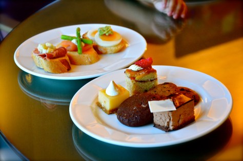 Complimentary Desserts and sandwiches at Club Rotana