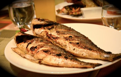 Fresh Fish at Ginger All day dining - seafood night