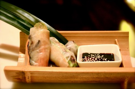 Grilled Kalbi Beef salad rolls - AED 80 - lettuce, cucumber, scallon, sweet soy dip