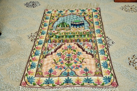 Beautiful Prayer Mat provided by Dusit Thani, Abu Dhabi