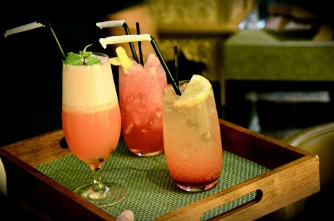 Mocktails - AED 28 - GINGER TWIST, PINK LEMONADE, VIRGIN PLANTERS PUNCH