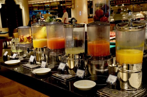 Fresh Juices for breakfast at Urban Kitchen