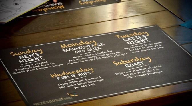 Nezesaussi Grill – Manzil Downtown Dubai – Saturday Roast – AED 99