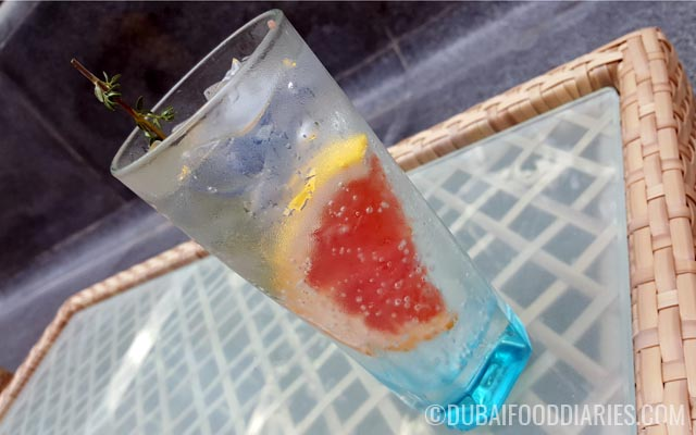 Tonic with thyme and grapefruit at Street Art Brunch at Oberoi Dubai