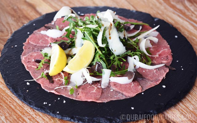 Carpaccio at Per Te restaurant Jumeirah 1 Dubai