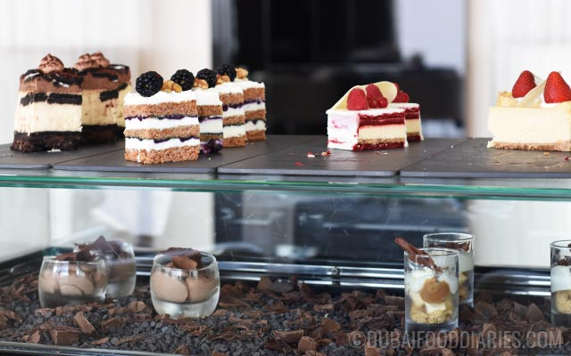Cheesecake trolley at Tea Party on 68th Prime68 JW Marriott Marquis Dubai