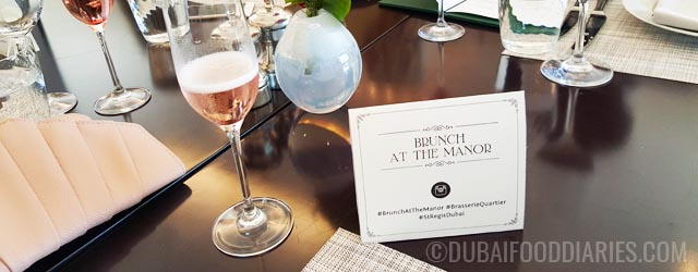 Brunch at the Manor at Brasserie Quartier, The St. Regis Dubai