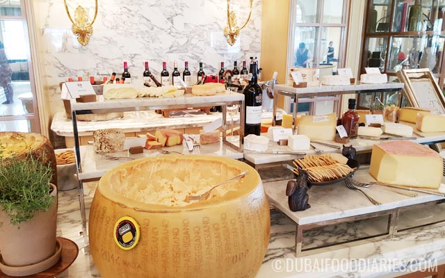 Cheese and port at Brunch at the Manor Brasserie Quartier St Regis Dubai