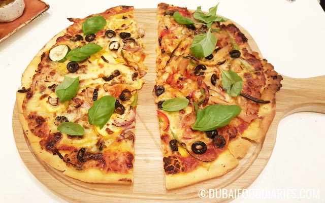 Pizza at Skye and Walker Marriott Executive Apartments Deira Dubai