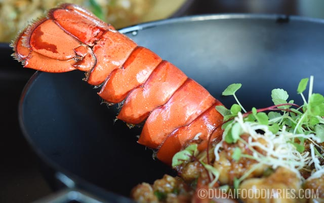 Stir-fried lobster at Thiptara The Palace Downtown Dubai
