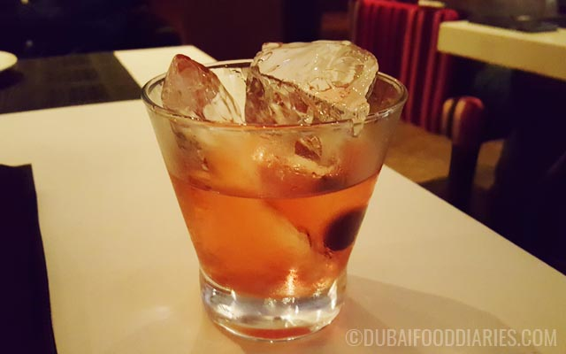Cuban Sazerac cocktail at Muze Live Music Room at Souk al Bahar Downtown Dubai