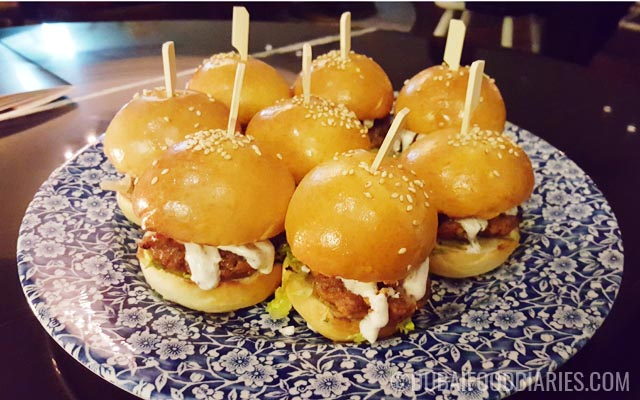 Lamb sliders at Weslodge Saloon at JW Marriott Marquis Dubai