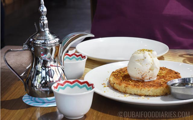 Coffee and kunafa at Logma Boxpark Al Safa Dubai