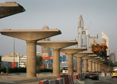 RAIL ROLLING: The RTA is expecting to raise AED3bn ($817m) from the naming rights. (Getty Images)