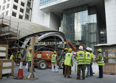 SUMMER BAN: The midday break rule was lifted for work to continue on the Red Line of the Dubai Metro project.
