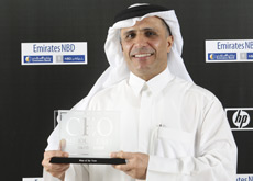 AWARD WINNER: The RTA's chairman Mattar Al Tayer with his award. (ITP Images)