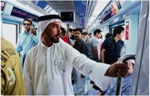 Almost 100,000 use the Dubai Metro on Sunday