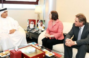 Al Tayer receiving the delegation of the British Institution of Civil Engineers.