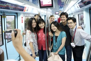 DUBAI METRO: A total of 1,198,699 people made a journey on the metro in its first month. (Getty Images)