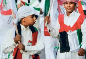 *  My country first: A scene from the Emaar Boulevard parade     * Image Credit: Abdel-Krim Kallouche, XPRESS