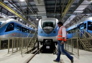 *  As soon as the Metro service stops at night, the trains start moving to the sheds in Jebel Ali and Al Rashidiya Depots. Though all the trains are cleaned every day, each train is washed once every three days in automatic washing bays. It takes five to seven minutes to wash a train.     * Image Credit: Francois Nel/Gulf News