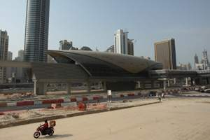 The Sharaf DG Metro Red Line station in Dubai. Paulo Vecina / The National