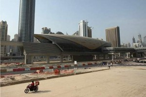 Jumeirah Lakes Towers Metro station is expected to be one of five stations to open next month. Paulo Vecina / The National