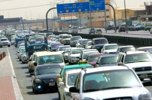 "*  Image Credit: Virendra Saklani, Gulf News     * Traffic on a section of the Emirates Road. The Dubai Police's Traffic Department is studying the implementation of a ""white points"" system to award good drivers."