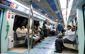 """The number of the metro riders on both the red and green lines during the first seven days of November 2011 exceeded two million,"""" according to Al Tayer. (SUPPLIED)"""