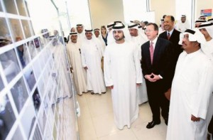 *  Image Credit: Asghar Khan/Gulf News     * Shaikh Maktoum, along with Lieutenant General Dahi Khalfan Tamim, Chief of Dubai Police, Michael H. Corbin, Justin Siberell and other officials during the official opening ceremony of the new American consulate compound in Dubai.