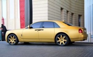 Matte Gold Rolls Royce Ghost