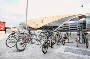 *  Image Credit: Pankaj Sharma/Gulf News     * The RTA is encouraging the use of bicycles with the construction of parking spaces at Dubai Metro stations. The move also aims to avoid unruly and haphazard parking of bicycles near the stations, damaging public property.